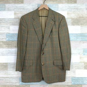 Faconnable Wool Windowpane Check Sport Coat
